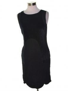 Kensie Women Size Medium M Black Sheath Dress