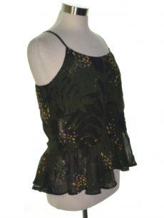 Bar III Women Size Medium M Dark Green Camisole Top