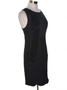 Kensie Women Size Medium M Black Sheath Dress