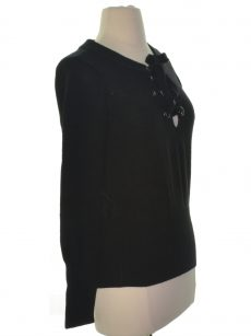 Bar III Women Size XS Black Casual Sweater
