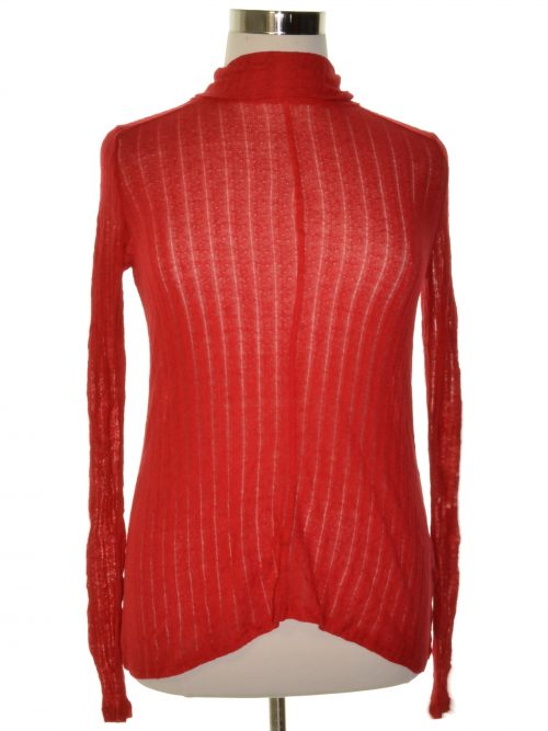 Lucky Brand Women Size Medium M Red Pullover Sweater