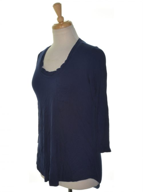 Maison Jules Women Size Small S Navy Blouse Top