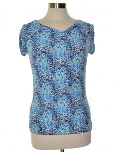 Tahari ASL Women Size XS Blue Shirt Top