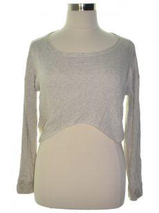 Chelsea Sky Women Size Medium M Grey Crop Sweater