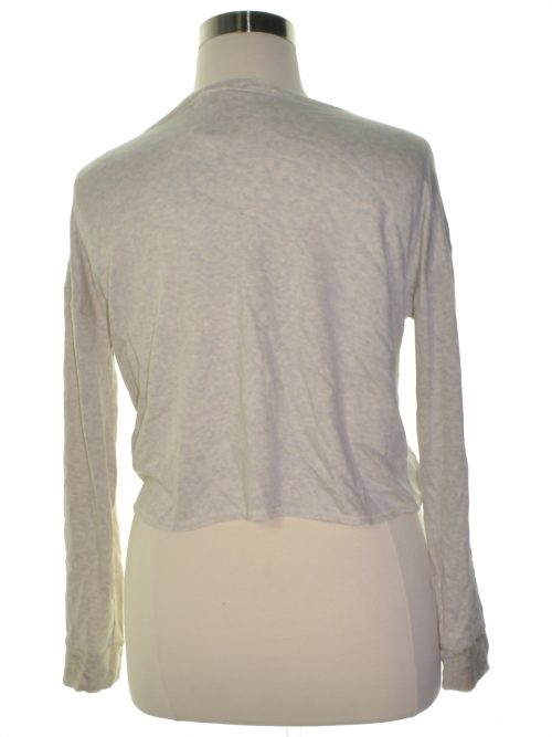 Chelsea Sky Women Size Medium M Grey Crop Sweater