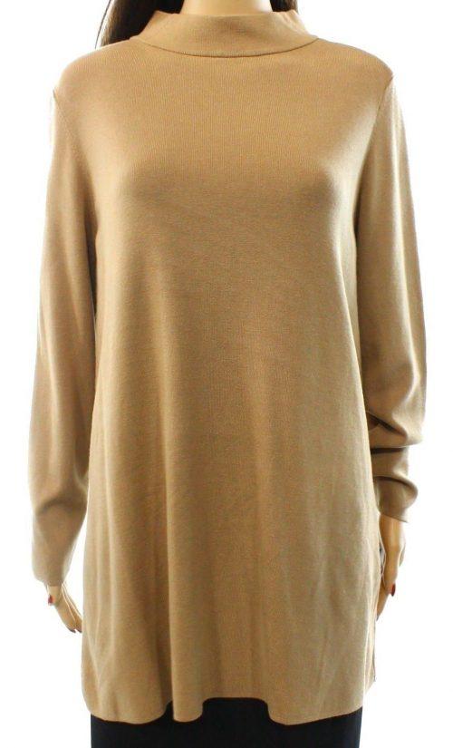 Alfani Women Size Small S Tan Pullover Sweater