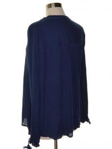 John Paul Richard Women Size Medium M Navy Blouse Top