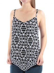 INC Petites Size 4P Black Tank Top