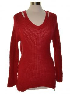 Style & Co. Petites Size PL Red Pullover Sweater