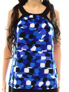 INC Petites Size PM Multi Blue Halter Top