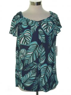 Maison Jules Women Size XS Navy Teal Blouse Top