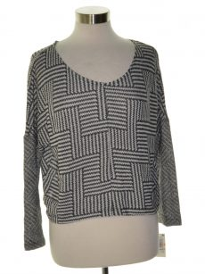 Bar III Women Size Small S Charcoal Crop Sweater