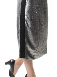 Bar III Women Size 2 Silver Pencil Skirt