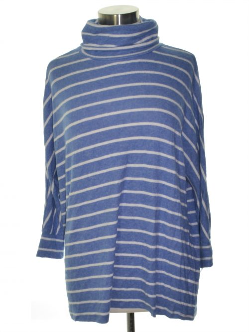 Maison Jules Women Size Large L Pastel Blue Casual Sweater
