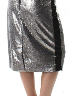 Bar III Women Size 4 Silver Pencil Skirt