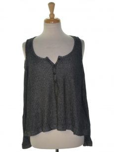 Chelsea Sky Women Size Small S Charcoal Black Pullover Top