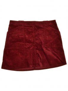 Maison Jules Women Size 0 Maroon A-Line Skirt
