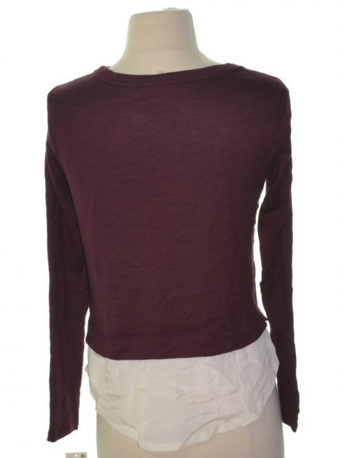 Maison Jules Women Size Medium M Maroon Casual Sweater