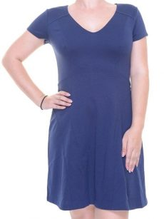 Maison Jules Women Size Medium M Navy Flare Dress
