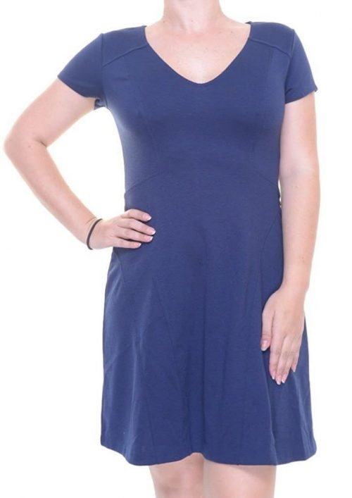 Maison Jules Women Size Medium M Navy Flare Dress
