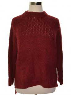 Rachel Roy Women Size Medium M Dark Red Casual Sweater
