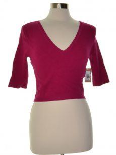 Rachel Roy Women Size Large L Dark Pink Cropped Top