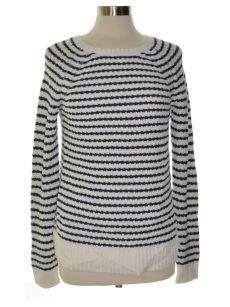 Maison Jules Women Size Large L White Scoop Neck Sweater
