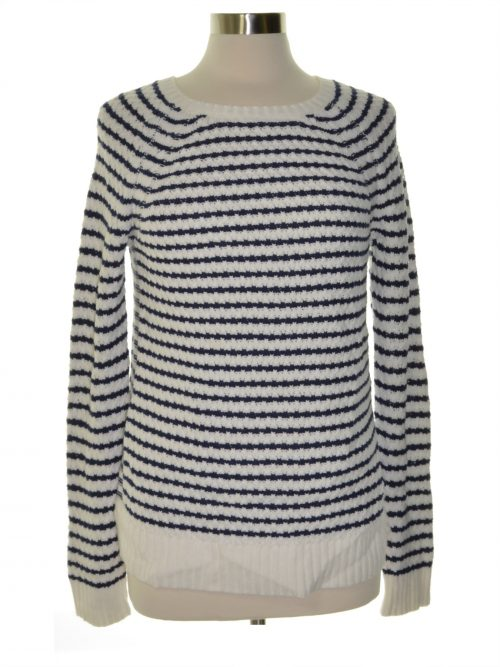 Maison Jules Women Size Large L White Scoop Neck Sweater
