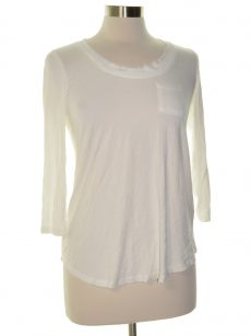 Maison Jules Women Size Small S White Knit Top