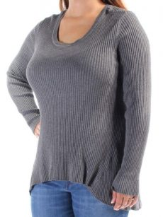 Style & Co. Women Size XS Dark Gray Tunic Sweater