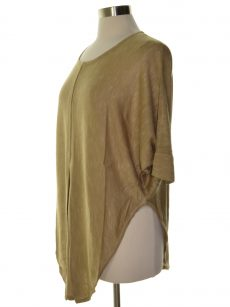 NY Collection Women Size Small S Tan Knit Top