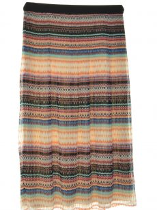 NY Collection Women Size XS Multi A-Line Skirt
