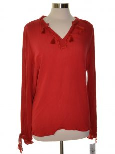 John Paul Richard Women Size XS Red Blouse Top