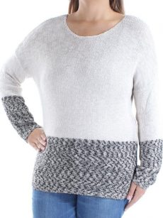 INC Women Size XL Beige Scoop Neck Sweater