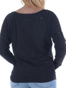 Bar III Women Size Small S Black Sweatshirt Sweater