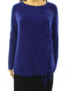 Grace Elements Women Size Medium M Blue Pullover Sweater
