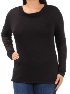 Bar III Women Size Large L Black Pullover Top