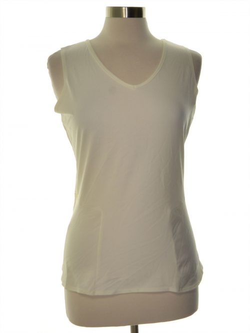 NY Collection Women Size Small S Ivory Peplum Top