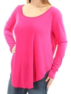 Chelsea Sky Women Size XL Bright Pink Shirt T-Shirt Top