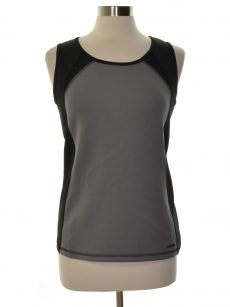 Anne Klein Women Size Small S Dark Gray Scoop Neck Top