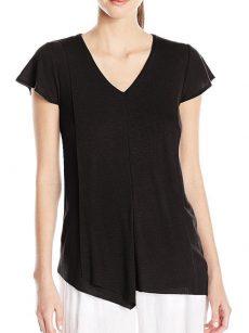 Kensie Women Size XS Black Casual Top