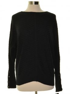 Alfani Petites Size PL Black Pullover Sweater