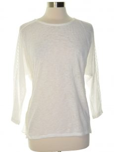Alfani Women Size Small S White Scoop Neck Top