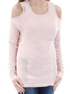 Bar III Women Size XS Light Pink Casual Sweater