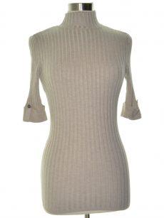Style & Co. Women Size XS Light Beige Turtleneck Mock Sweater