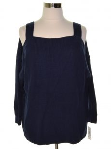 Style & Co. Women Size XL Navy Pullover Sweater
