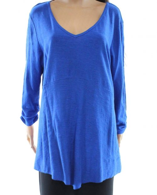 Style & Co. Women Size XS Navy Pullover Top