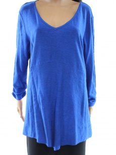 Style & Co. Women Size Small S Royal Blue Pullover Top