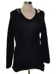 Style & Co. Petites Size PM Black Pullover Sweater