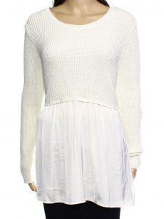 Style & Co. Petites Size PL Ivory Sweatshirt Sweater